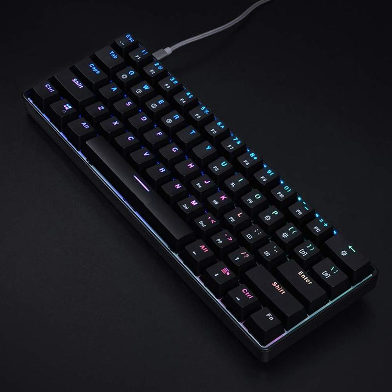 Mechanical Keyboard 61 Keys Optical Switch Multi color RGB LED Backlit Wired Gaming Keyboard IP67 Waterproof Wrist Rest Erg in Keyboards from Computer Office