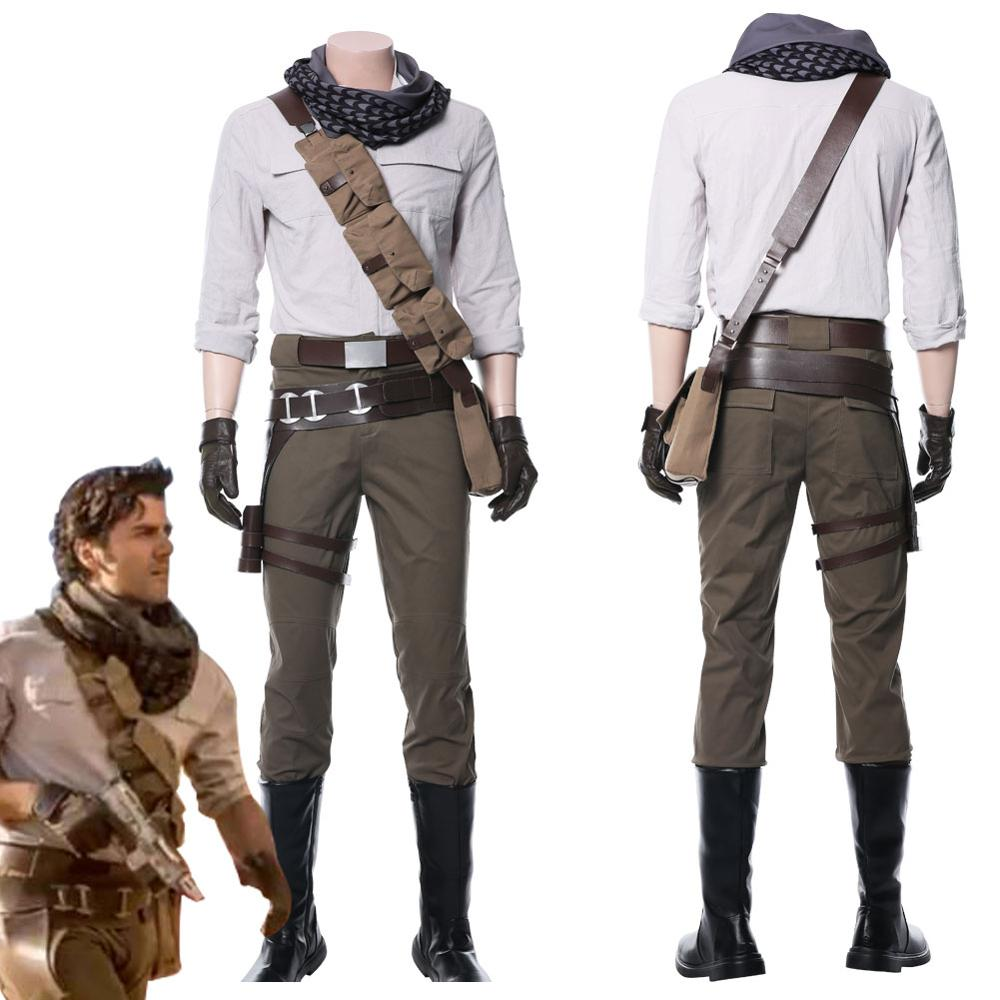 Star Cosplay Wars 9 The Rise Of Skywalker Poe Dameron Cosplay Costume Whole Set Adult Men Halloween Carnival Costumes Game Costumes Aliexpress