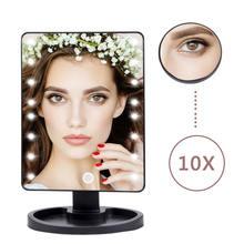Освещенным зеркалом Регулируемый 10x лупа зеркало для макияжа