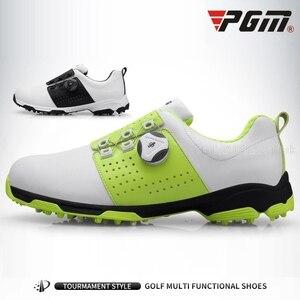 Image 2 - Pgm chaussures de Golf étanches pour hommes, baskets en cuir antidérapantes, confortables et respirantes, pour entraînement et Sport