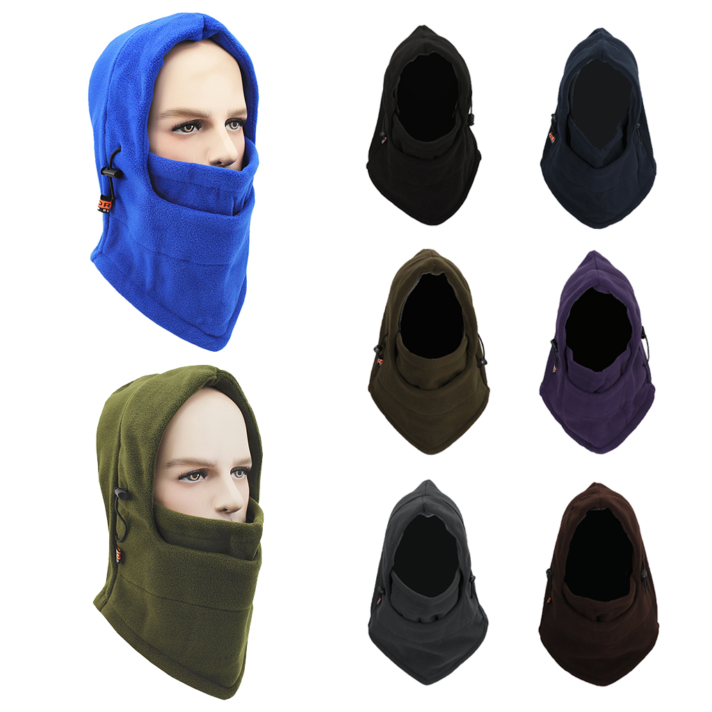 Windproof Thermal Winter Ski Fleece Balaclava Hat Cap Neck Hood Face Mask For Men & Women Windproof Mask Hat