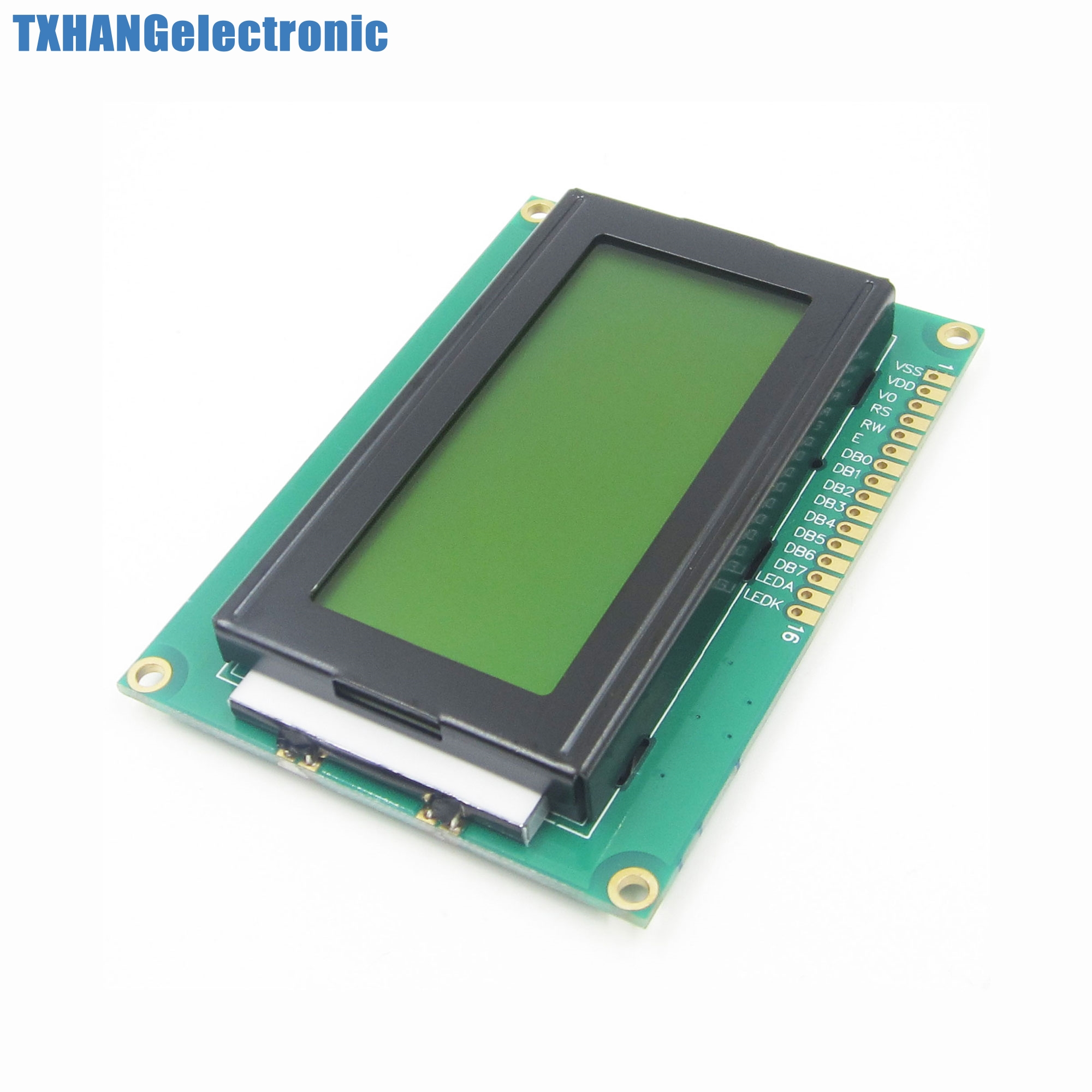1 LCD1604 16x4 Character LCD Display Module LCM Yellow Black Light 5V Electronic Component Accessories Diy