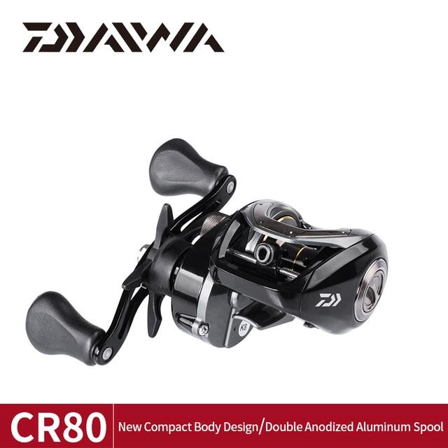 DAIWA CR80 דיג סלילי 6.8 יחס הילוך מקסימום גרור 7kg Baitcasting דיג סליל pesca מקסימום גרור 7kg נמוך פרופיל דיג סלילים