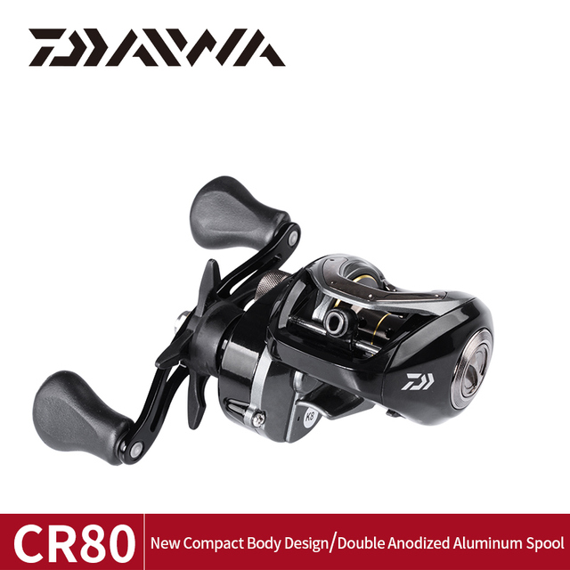 DAIWA CR80 Fishing reels 6.8Gear Ratio Max Drag 7kg Baitcasting Fishing Reel pesca Max Drag 7kg Low Profile Fishing reels