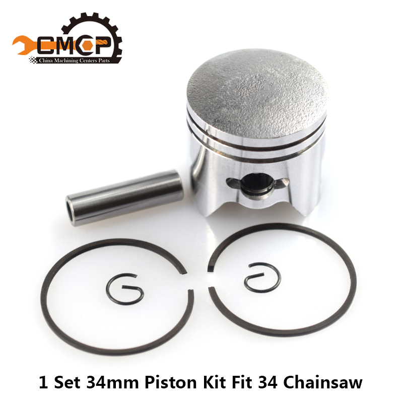 1 Set 34mm Piston Kit Fit Gaslione Chinsaw 34 Chainsaw Spare Parts Set Chainsaw Piston Kit