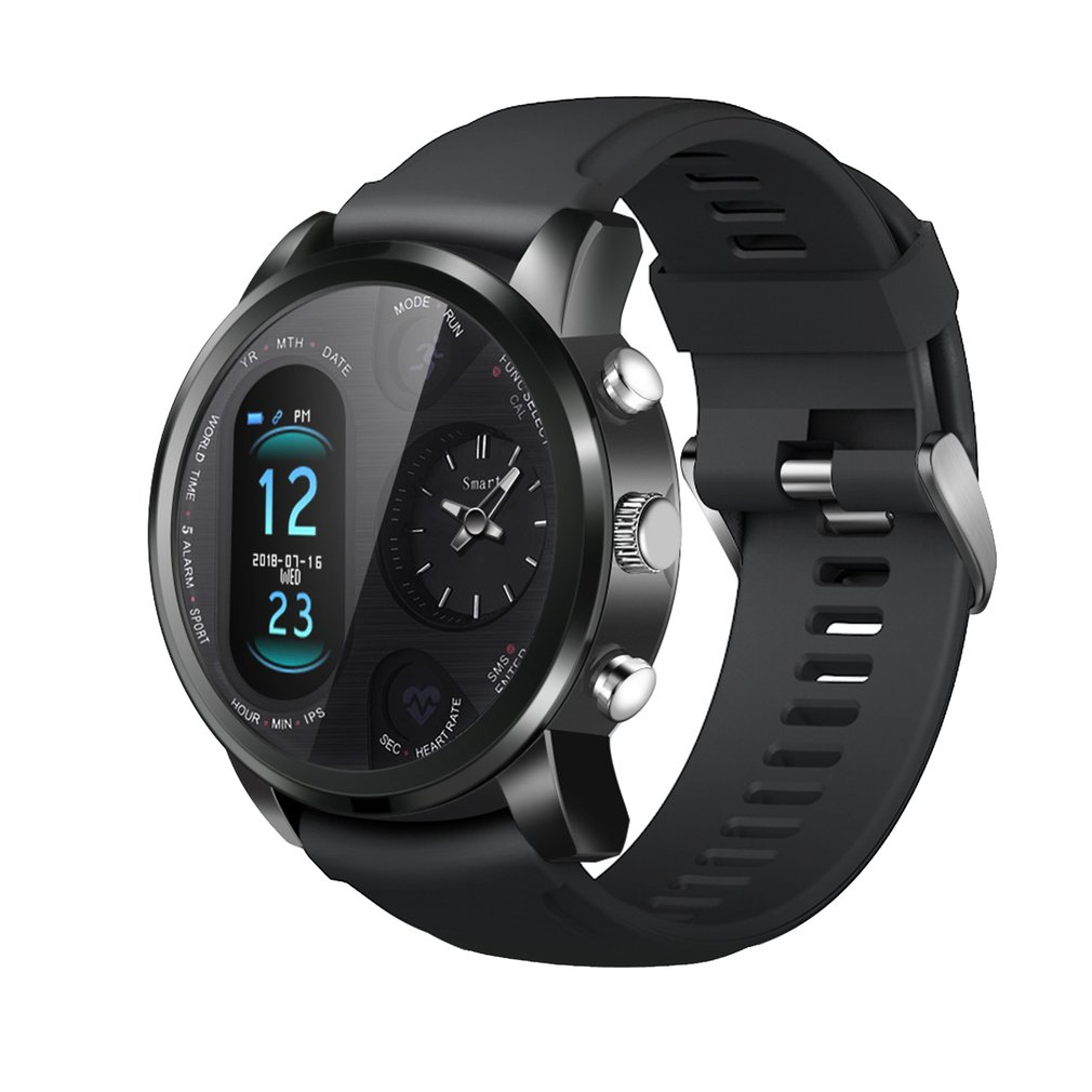 T3Pro Dual Display Smart Watch Heart Rate Sports Fitness Tracker Two Time Zones Sports Commerce Smart Watches