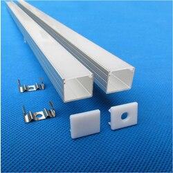 10-40 Uds 2 m, 80 pulgadas/PC 16mm de ancho 5-24v tira 15mm de alto perfil de aluminio, difusor mate doble tira armario led canal