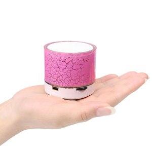 Image 2 - Bluetooth Speaker Mini Wireless Loudspeaker Crack LED TF Card USB Subwoofer Portable MP3 Music Sound Column for PC Mobile Phone