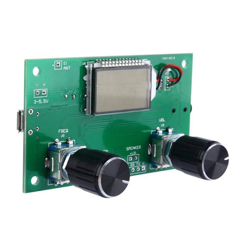 DSP & PLL Digital Stereo FM Radio Receiver Module 87-108MHz Serial Control +Case