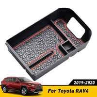 Fit Für Toyota RAV4 RAV 4 2019 2020 Zentralen Storage Box Armlehne Armlehne Handschuh Halter Platte Auto Container Organizer Zubehör
