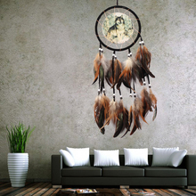 Catcher-Net Wall-Hanging Dream Handmade Home-Decorations Ornament Feathers-Wolf