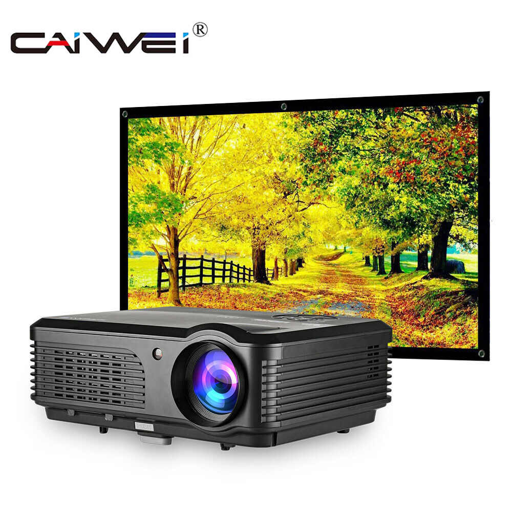 CAIWEI A6/A6AB 1080p Proiettore Full HD Proiettore Home Theater di Smart Android WiFi LCD LED Video Beamer Per smartphone Proyector