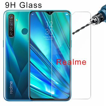 Перейти на Алиэкспресс и купить Прозрачная защитная пленка для экрана Realme 5 Pro 5Pro 9H HD, закаленное стекло для Realme 3 Pro 3i 1 2, Защитное стекло для телефона