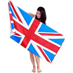 Toalla de playa bandera británica de Estados Unidos, Gran oferta, para hombres y mujeres, chal de Bikini, playa, chal, manta de Picnic, toallas de baño, 2018