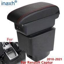 Braço do carro para renault captur caixa de apoio braço 2018 2019 2020 2021 acessórios caixa armazenamento com suporte copo cinzeiro usb