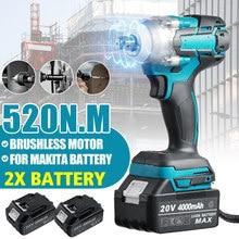 Makita – clé à chocs électrique sans fil, 520N.M, Rechargeable, 1/2 prises, 7000 tr/min, pour batterie 18V