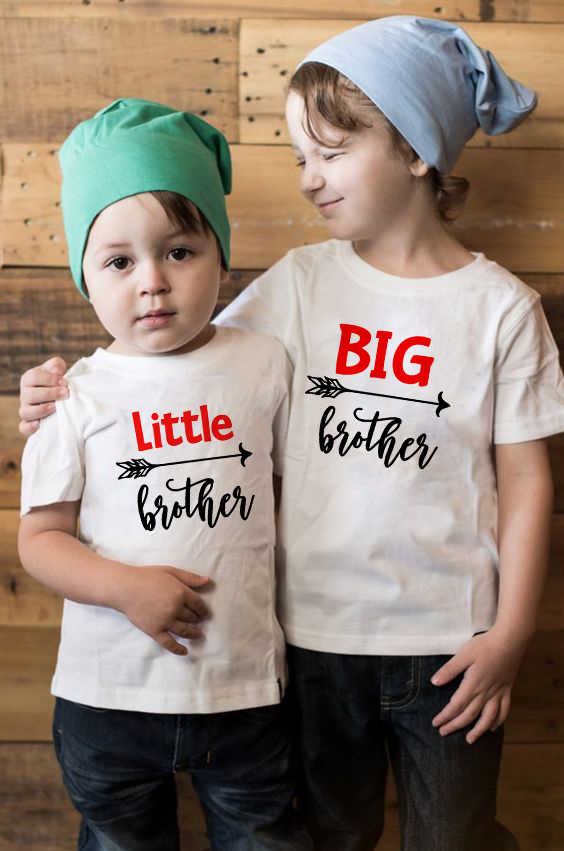 Big/Little Brother Family Matching Clothes Kids Short Sleeve Casual T-shirt Tops Outfits Baby Boy Tees Shirts Clothes