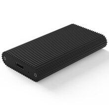 HOT KIMAX البسيطة المحمولة القرص الصلب مربع MSATA SSD حالة نوع C إلى USB3.1 الألومنيوم الخارجية الضميمة