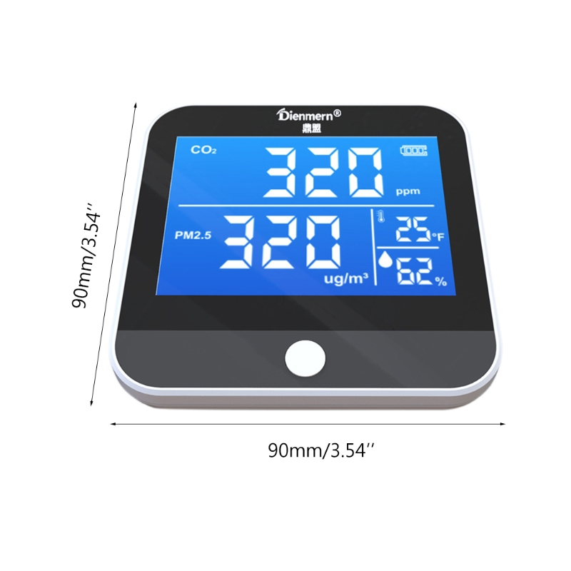 Co2 Detector Carbon Dioxide Pm2.5 Temperature Humidity Air Quality Monitor Ndir L74d Be Friendly In Use