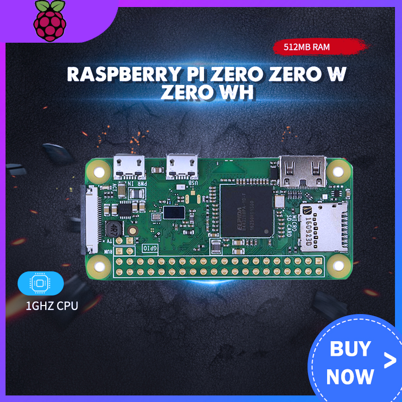 Original Raspberry Pi Zero V 1.3 Zero W WH Wireless WIFE Bluetooth Board With 1GHz CPU 512MB RAM Raspberry Pi Zero 1.3 Version