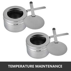 Image 4 - 食品擦過皿 4 個 9Lステンレス鋼フルサイズコガネムシビュッフェ水パン燃料ホルダーやふたケータリングウォーマー