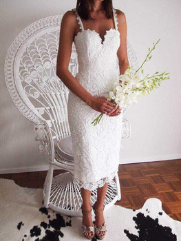 2020 Fashion Designer White/ Black Party dress Women Sexy Sleeveless Lace Crochet Hollow Out Slim Spaghetti Strap Bodycon Dress women s sexy bodycon mini dress cute cherry print spaghetti strap sleeveless lace patchwork cami dress