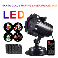 LED Landscape Lamp Moving Christmas Party Beautiful Outdoor Xmas Indoor Projector Lights Portable Waterproof Plastic Lawn Lamp