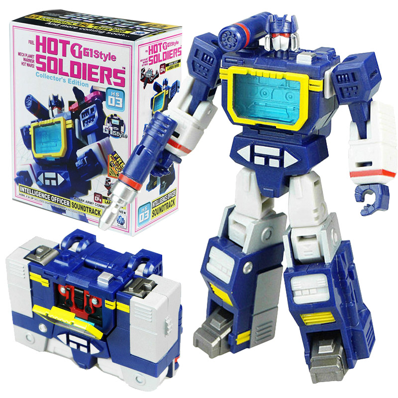 Mini Soundwave With Laserbeak HS Transformation HS-03 HS03 G1 Pocket War Deformation Action Figure Robot Toys Kids Gifts