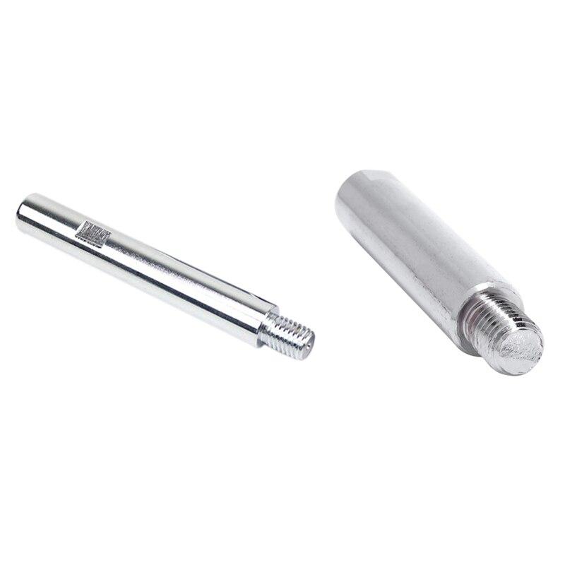 2 Pcs 125 Polishing Machine Angle Grinder Extension Rod M14 Adapter Rod Polishing Beauty Polishing Tool, 140Mm & 100Mm