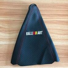 JDM RALLIART Car Shifter Boot Cover Carbon fiber cloth Gear sleeve for Mitsubishi Honda Toyota Nissan Mazda Accessories цена и фото
