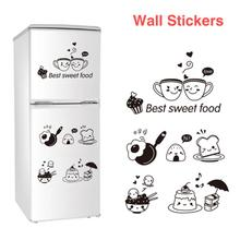 Home-Decor Removable Cute Wall-Stickers Room Wall Decor Restaurant Kitchen Happy Western Fridge Coffee Stickers 75 33cmcharming eyes pattern removable room decor wall stickers
