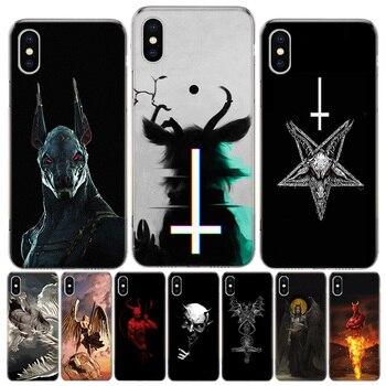 A Lucifer Satanás Ángel diablo caja del teléfono para iphone SE de 2020 11Pro XS MAX 8 7 6 6S Plus X 5 5S SE XR cubierta Coque