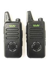 2 pces wln KD-C1 plus mini walkie talkie uhf 400-470mhz magro pacote tamanho em dois sentidos rádio