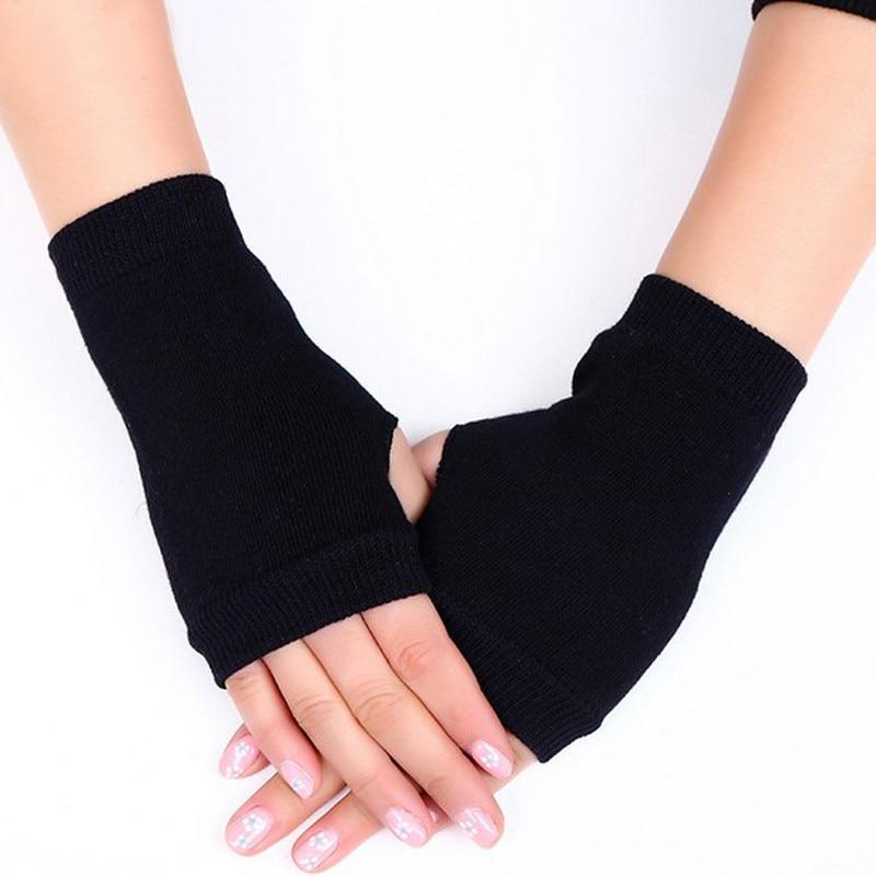 1 Pair Women Cashmere Fingerless Warm Winter Gloves Hand Wrist Warmer Mittens 4 Colors