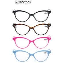 Женские очки для чтения «кошачий глаз», винтажные модные очки «кошачий глаз», прозрачные линзы в стиле ретро, женские ультралегкие очки с ди...