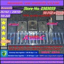 Aoweziic 2019 + 100 новая импортная оригинальная 2SJ162 2SK1058 2SJ162 K1058 J162 TO 247 звуковая трубка высокой мощности (1 пара)