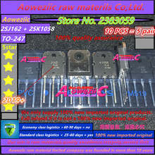 Aoweziic Tubo de contador auditivo de alta potencia, 2019 + 100% nuevo importado original 2SJ162 2SK1058 2SJ162 K1058 J162 TO 247 (1 par)