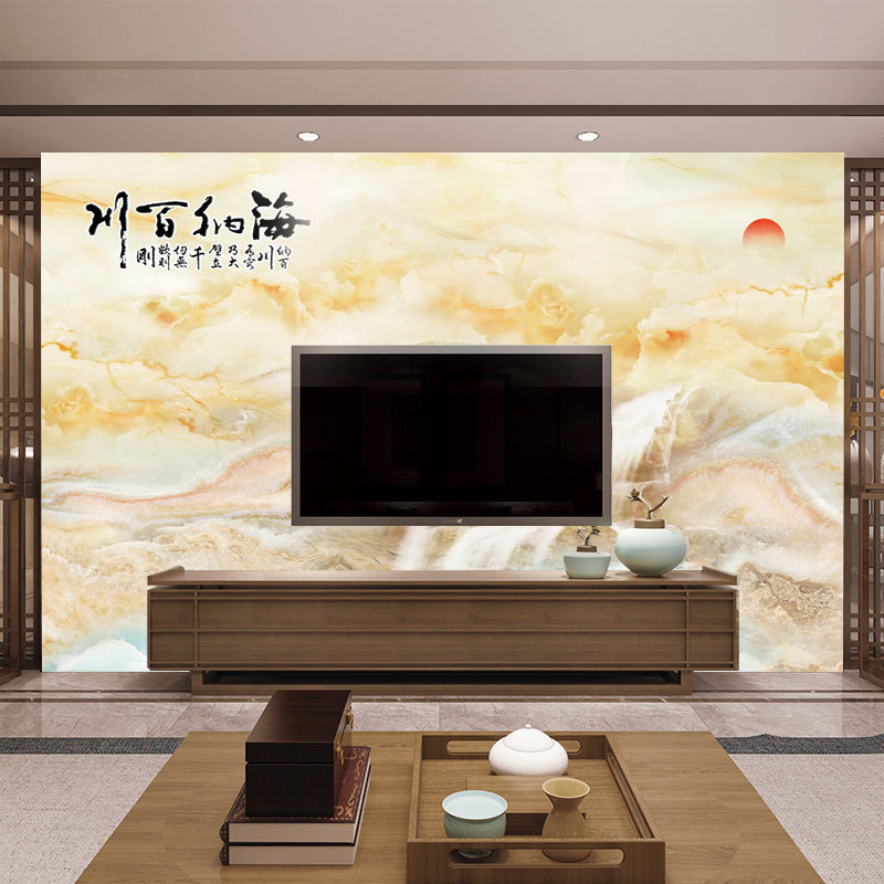 Customizable 3D Modern Minimalist Mural Marble Line 5D Beautiful Mural Living Room Television Background Wall Wallpaper