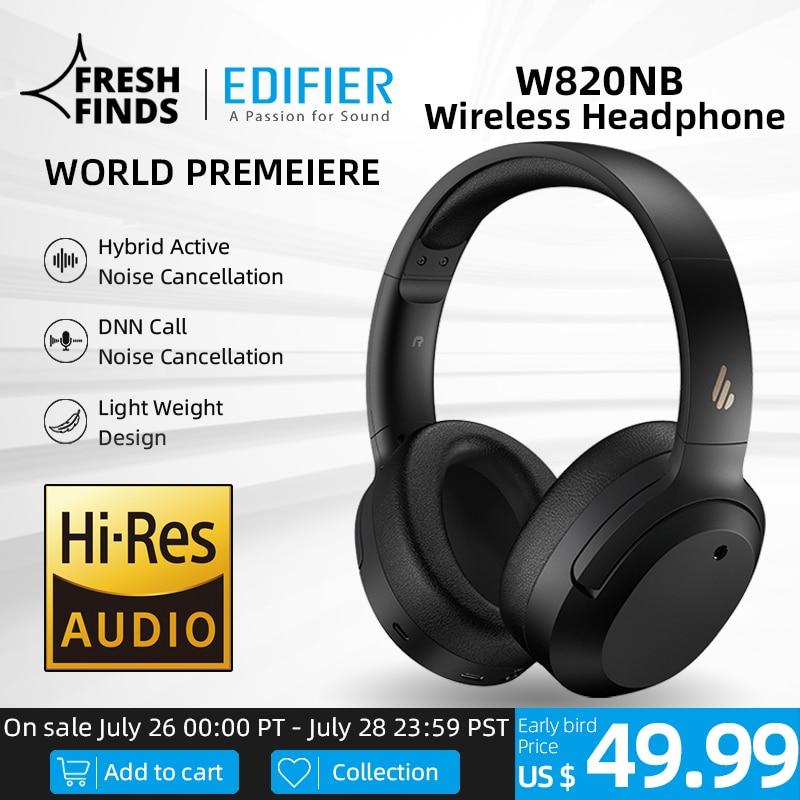 EDIFIER W820NB ANC Wireless Bluetooth Headphone Hi-Res Audio Bluetooth 5.0 40mm Driver Type-C Fast Charge Hybrid ANC 1