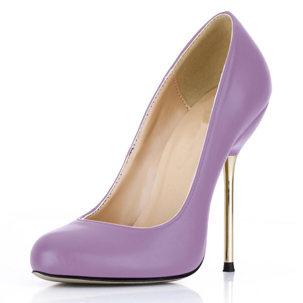 SDTRFT Female Shallow Stilettos 12cm Gold Thin High Heels Cosplay shoes woman sexy Spring Autumn pumps zapatos mujer US4-11 12