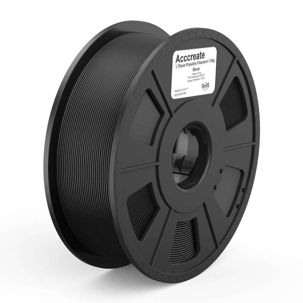 Acccreate 1 кг 1,75 мм гибкий TPU Филамент расходный материал для печати мягкий 3D принтованные модели подходят для большинства размеров FDM 3D-принтер...