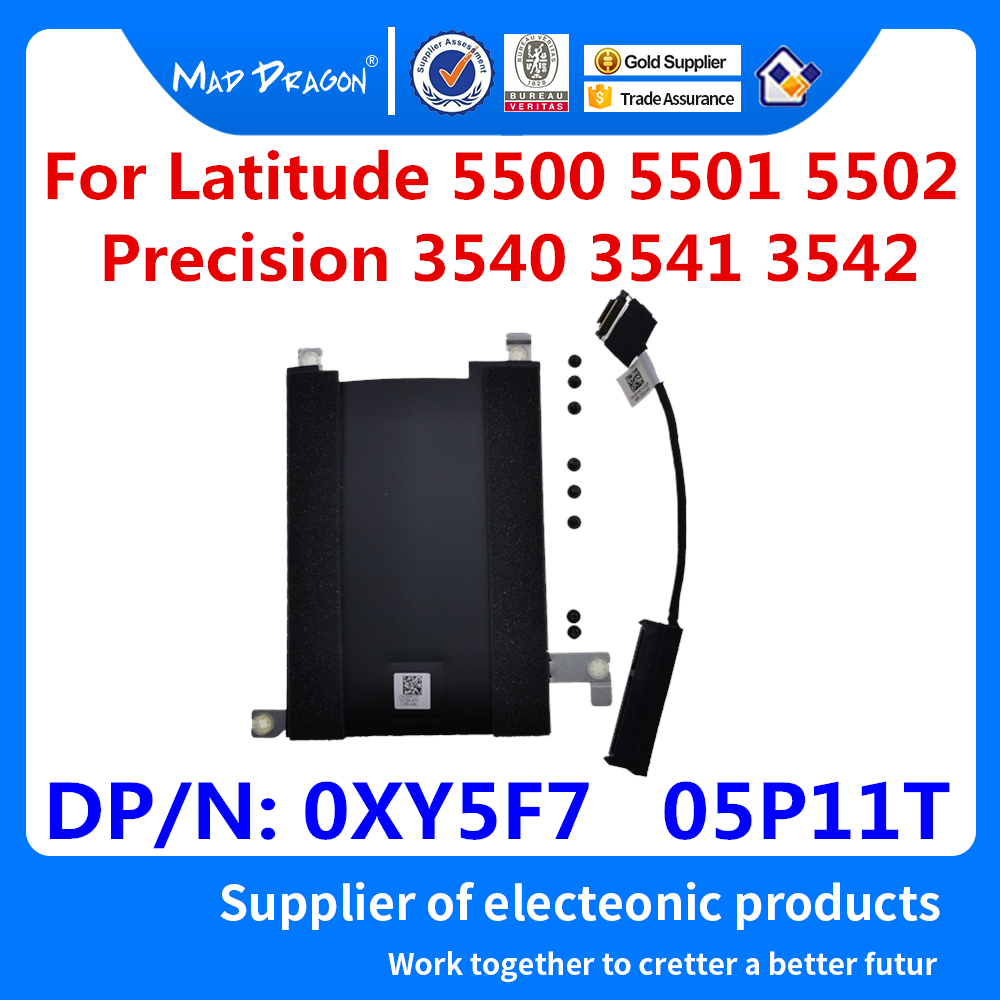New Hard Drive Bracket Caddy HDD Disk Drive Cable For Dell Latitude 5500 5501 5502 Precision 3540 3541 3542 0XY5F7 XY5F7 05P11T