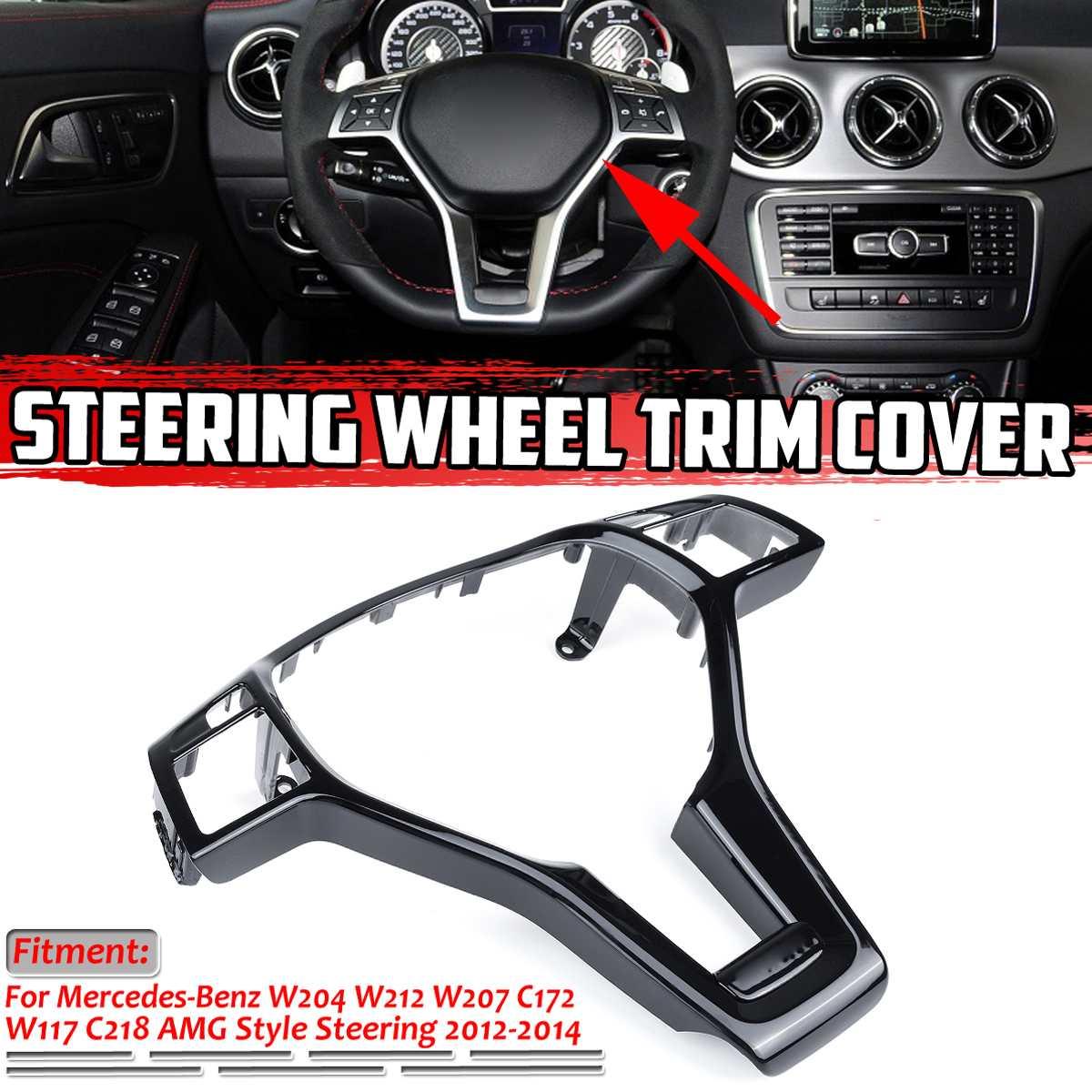 Отделка рамы рулевого колеса W204 для Mercedes Benz C E CLA CLASS W204 W212 W117 C172 C218 2012-2014 для AMG Style