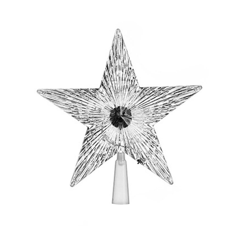 Transparent Pentagram-shaped Lamp Home Decor Christmas Tree Ornament Party Hanging Star Christmas Tree Decorations