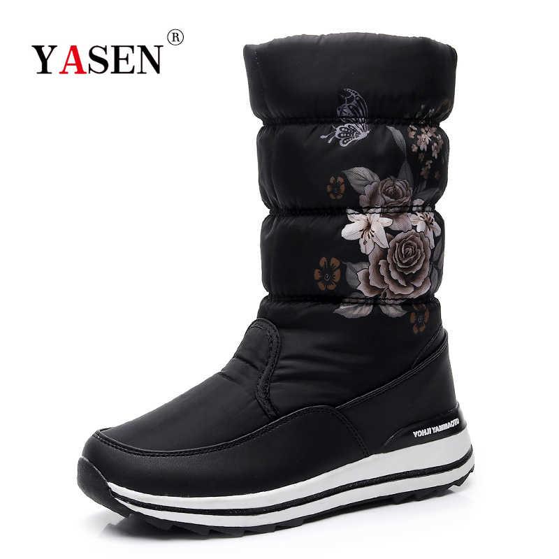 Kadın kar botları platformu kış çizmeler kalın peluş su geçirmez kaymaz çizmeler kadın kış ayakkabı sıcak kürk botas mujer artı boyutu