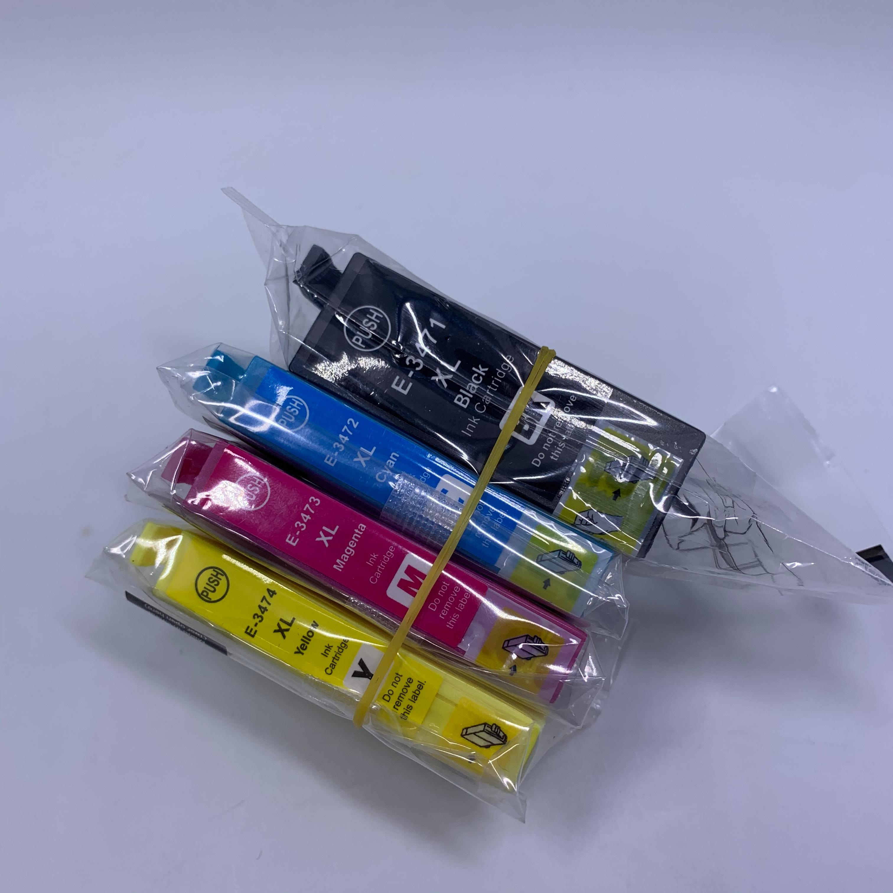 YOTAT T34XL T34 Compatible 34XL Ink Cartridge T3471 T3472 T3473 T3474 For Epson Workforce Pro WF-3720 WF-3725 Printer