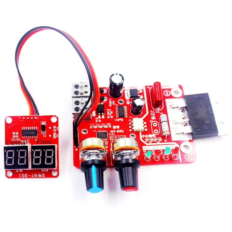 Promotion! Spot Welding Time And Current Controller Control Panel Timing Current With Digital Display Upgrade 100A