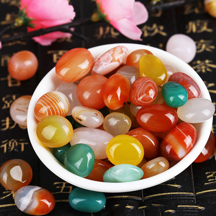 500g Rain Flower Stone Aquarium  Colored Pebbles  Flower Pot Decoration  Stones  Garden  Gardening  Garden Decoration