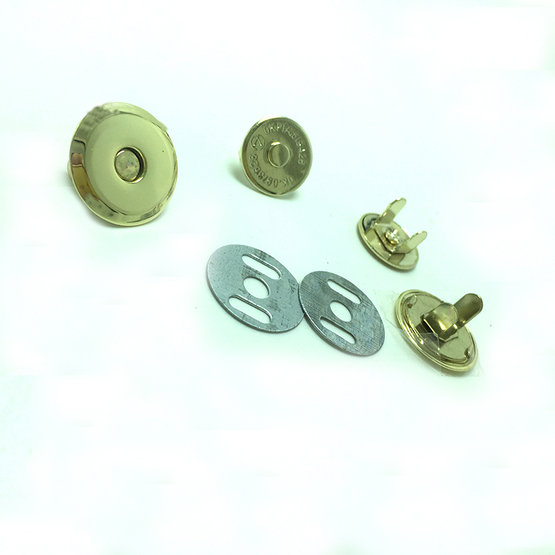 100set Magnetic Purse Snaps 18mm - Gold Snap Button For Bags