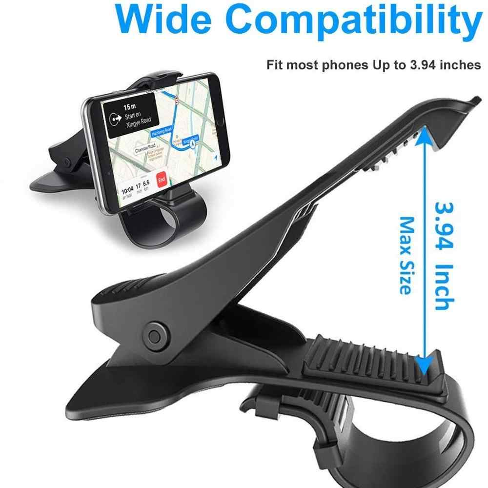 Tongdaytech HUD Mobil Ponsel Holder Stand Adjustable Klip Lembut Anti Slip 6.5 Inch Ponsel Bracket untuk Iphone Samsung Huawei